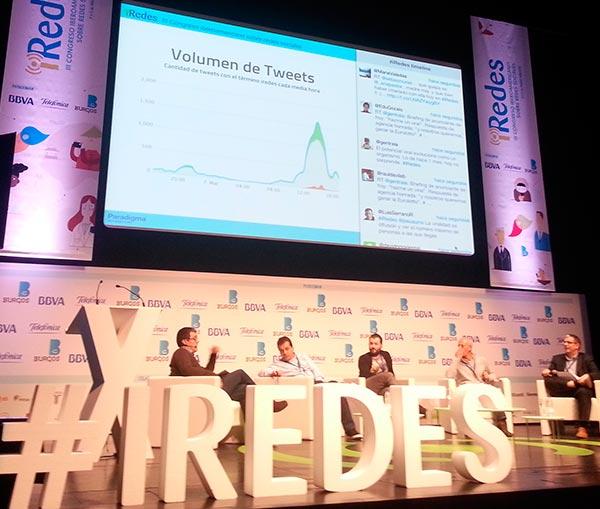 El hashtag tracking de Paradigma en la pantalla deiRedes